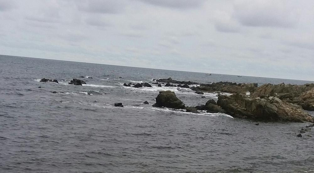 흐린날의 바다