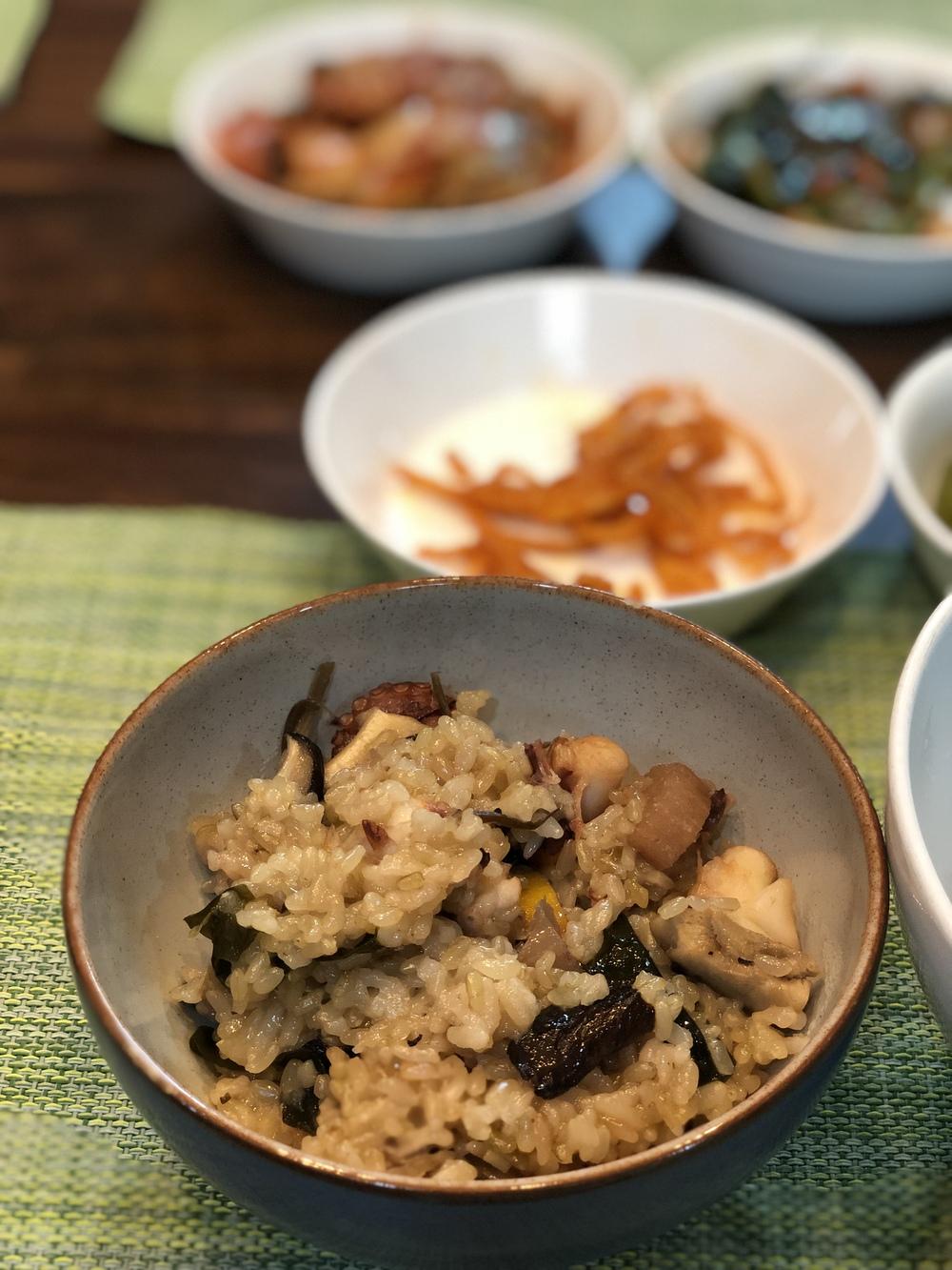 초간단하게 문어밥 만들기!