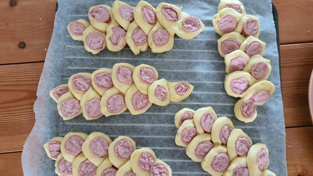 햄 낙엽빵 만들기